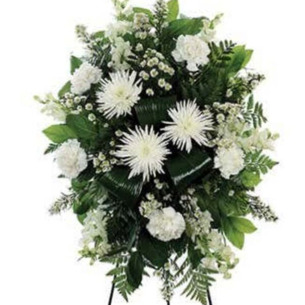 arrangement with white flowers
